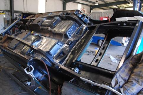 classic car rotisserie restoration